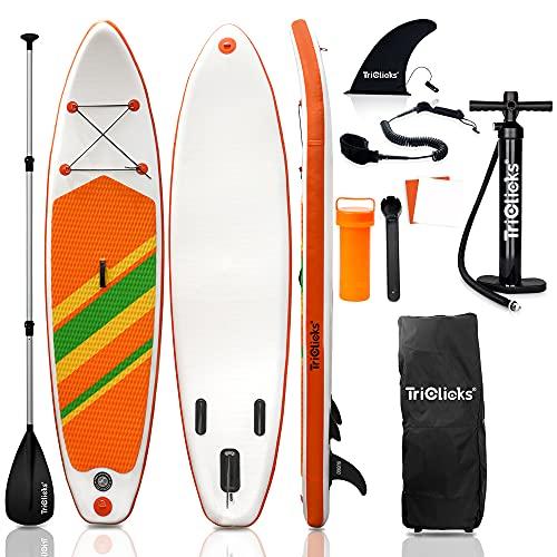 SUPインフレータブル スタンドアップパドルボード-LEAGUE&CO 積載重量140-160kg 幅76cm 厚15cm 安定性抜群 sup 釣り滑り止め ヨガ 釣り マリンスポーツ 海 (オレンジ)