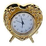 Reloj Analógico de Sobremesa Decoración Miniatura - Corazón (3,5 x 3,5 x 1,5 cm.)