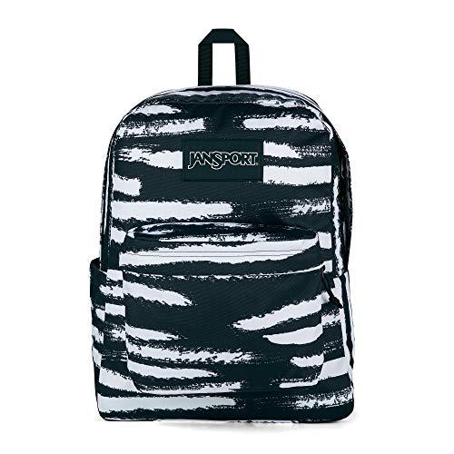 JanSport SuperBreak Backpack - School, Travel, or Work Bookbag with Water Bottle Pocket, Different Strokes