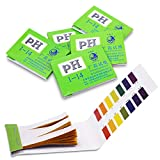 HOMUREN Universal Full PH Tester Litmus Paper Meter Controller 1-14st Alkaline Acid Indicator for Water Urine Saliva Soil Accurate with Control Card [ 5 Packs, APPR. 70-80 Strips/Pack ]