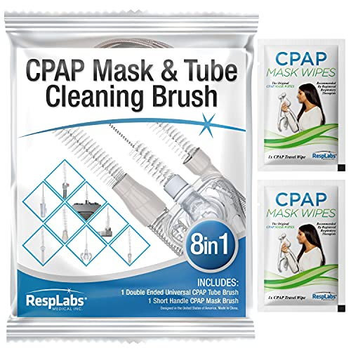 RespLabs CPAP Tube Brush. 8 in 1 System - Fits All CPAP Hose Typ