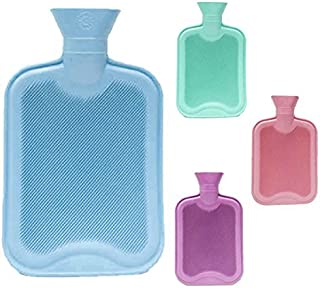 Classic 2L Cross-Hatched Hot Water Bottle, Color may vary