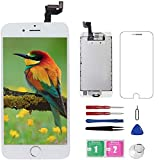 for iPhone 6S ScreenReplacement White with Home Button+FrontCamera+Earpiece+Speaker Diykitpl 3D Touch Digitizer Replacement Screen for iPhone 6s Model A1633/A1688/A1700 Full Assembly Repair Tool
