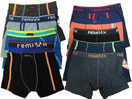 REMIXX 6er Pack Kinder Jungen Boxershorts Größe 134-176 (146-152)
