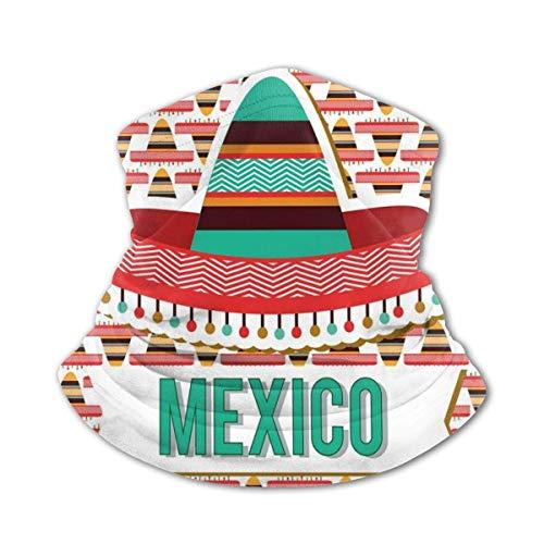 JONINOT Bufanda para el cuello, mscara a prueba de viento, diseo de Mxico, sombrero tnico cultural, disfraz tradicional s