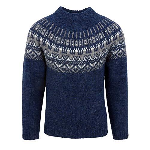 ICEWEAR - Elís ISLÄNDISCHER Herren UND Frauen Pullover AUS 100% ISLANDWOLLE | mit traditionell-isländischem Muster | Wasserabweisend und besonders warm | Hergestellt in Island