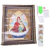 親子ゲームのための刺繡クロスクラフト、絵画、PEバッグ付き家の装飾DIY絵画(PDB12)