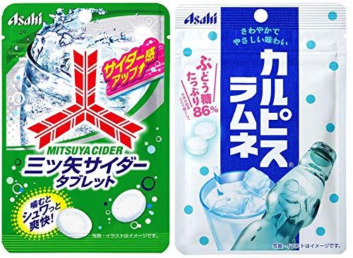 アサヒグループ食品 三ツ矢サイダータブレット小袋 25g & カルピスラムネ 41g 8個セット(各4個ずつ)