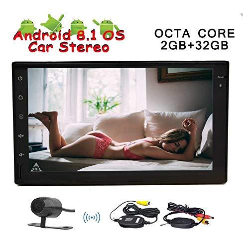 Stereo 7 Android 8.1 doppio di baccano con navigazione di GPS In-dash Capo dell'Unità Multimedia Player Octa core 2 GB di RAM 32 GB ROM Bluetooth SWC Specchio di collegamento USB di deviazione stand