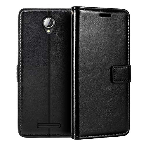Lenovo A5000 Wallet Case, Premium PU Leather Magnetic Flip Case Cover with Card Holder and Kickstand for Lenovo A5000