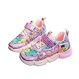 MYYLY Mädchen Trainer Spiderman Turnschuhe Jungen Mesh Schuhe Atmungsaktiv Kindermode Leicht rutschfeste Freizeit Sportschuhe Walking Laufen Flache Schuhe,Pink-34 (Inner Length~21CM)