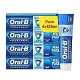 Oral-B Dentifrice Pro-Expert Protection Professionnelle, 24h de protection contre la plaque dentaire, Reminéralise l'émail, Arôme menthe, Carton recyclé écologique (Lot de 4x125ml)