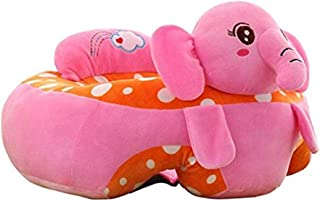 Baby Support Seat Sofa Chair Infant Learning Sitting Soft Chair Safety Eating Chair Baby Couch Bed Cartoon Animal Shaped Kids Pillow Plush Toys Gift Dining Chair  Color Pink  Size One size
