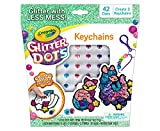 Crayola Glitter Dots DIY Keychains, Animal Craft, Gift for Kids, Ages 5, 6, 7, 8, Multi