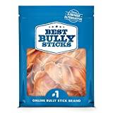 Best Bully Sticks Made in USA Whole Pig Ears (8 Pack) - Grain Free, Thick-Cut, All-Natural Dog Treats, Superior Alternative to Rawhide Dog Chews