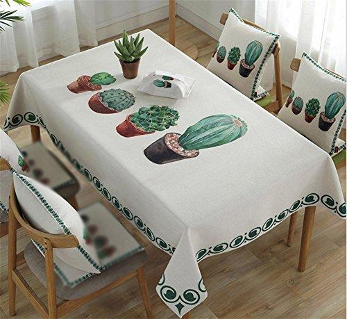 CANBUTIA Tissu Tissu Table de Couverture de Drap Tissu d'impression en Tissu Coton Usine de Nuit poussière Serviette Serviette de Table à Plusieurs arrière taie d'oreiller, 90 * 90