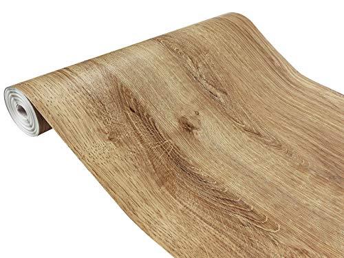 DecoMeister Klebefolien in Holz-Optik Holzfolien Deko-Folien Holzdekor Selbstklebefolie Möbelfolie Selbstklebend Holz-Maserung 67,5x100 cm Ribbeck-Eiche