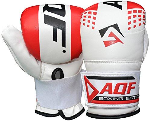 AQF Boxhandschuhe Sparring Training Kickboxen Boxsack Handschuhe Muay Thai Sandsackhandschuhe Punchinghandschuhe (Rot)