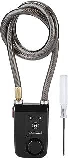 Anti-Theft Alarm Bicycle Lock, 80cm Smart Keyless Bluetooth Lock Waterproof 110dB Wire Rope anti-theft Alarm Bicycle Lock