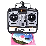 RC Flight Simulator 8CH R7 G7 Phoenix 5.0 XTR Remote Control Support Helicopter Fixed-Wing Glider Drone Training (Model2)