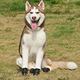 Caf/é UEETEK 4pcs Zapatos para Perros Antideslizante Invierno Botas para mascotas con Tira Reflectante Tama/ño M