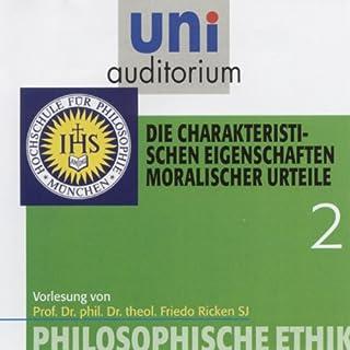 Die charakteristischen Eigenschaften moralischer Urteile (Uni-Auditorium) Titelbild