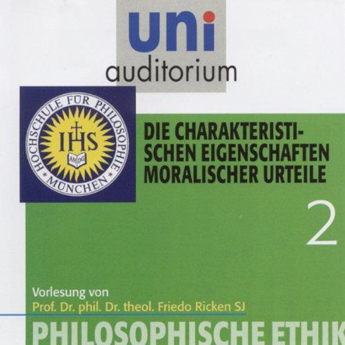 Die charakteristischen Eigenschaften moralischer Urteile Titelbild