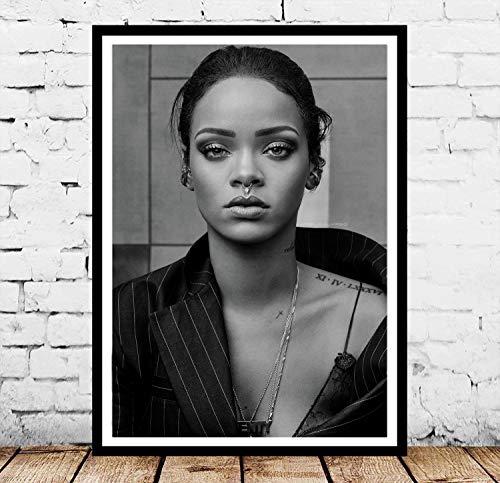 ysldtty Regalo De Impresión De Póster Rihanna Pop Hip Hop Music Singer Star Photo Pintura Al Óleo Arte De La Pared Lienzo Imagen Living Home Room Decor KQ539E Sin Marco 40cmx60cm