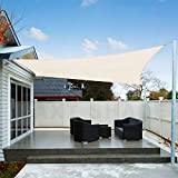 AXT SHADE 2.5 x 3.5m Rectangle Waterproof Sun Shade Sail UV Block for Outdoor Patio Garden-Cream