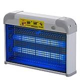 Outsunny Lampe UV Anti-Insectes Anti Moustique Tue Mouche électrique destructeur d'insectes 20 W Gris