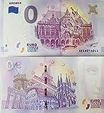 0 Euro Schein Bremen - Bremer Stadtmusikanten (2017-1) Null Euro ? Souvenirschein Andenken Banknote -