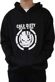 Moniku Call Duty III Skull Logo Mens Hoodie Cosplay Costume