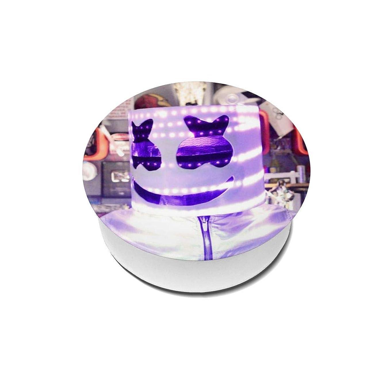 ペフリクルート三Yinian 4個入リ マシュメロ Marshmello スマホリング/スマホスタンド/スマホグリップ/スマホアクセサリー バンカーリング スマホ リング かわいい ホールドリング 薄型 スタンド機能 ホルダー 落下防止 軽い 各種他対応/iPhone/Android(2pcs入リ)