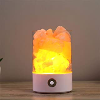 Himalayan Salt Lamp, Natural Crystal Pink Salt Rock Lamp with Touch Dimmer Switch LED Effective Air Purifier with Dimmable...