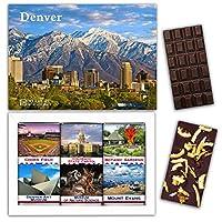 """DA CHOCOLATE キャンディ スーベニア """"DENVER"""" DENVER チョコレートセット 7,2×5,2一箱 (DARK Orange Cedar Mint)"""