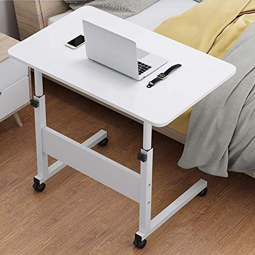 Stolik na laptopa Regulowany stolik nocny z kółkami Do użytku szpitalnego i domowego, Stolik na laptopa do łóżka, kółka z blokadą, tace do jedzenia, mobilny wózek na biurko W (kolor, C, rozmiar, 80x