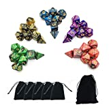 SmartDealsPro 5 x 7-Die Series Two Colors Dungeons and Dragons DND RPG MTG Table Games...