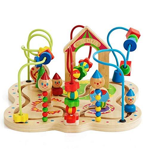 Detazhi Juego del Cerebro El Primer Juguete Educativo de Madera del Laberinto de Bead es Mejor para bebés y niños pequeños (Color: Multicolor, tamaño: tamaño Gratis)