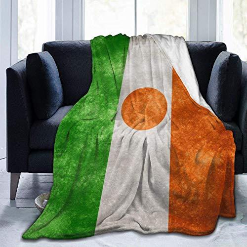 AEMAPE Bandera de Níger Manta de impresión Manta de Forro Polar Micro Ultra Suave