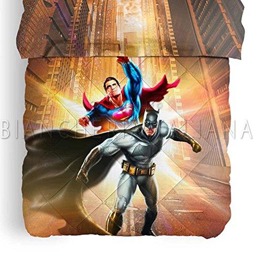 Caleffi - Colcha DC Comics Batman vs Superman individual una plaza de invierno 100% algodón con impresión digital