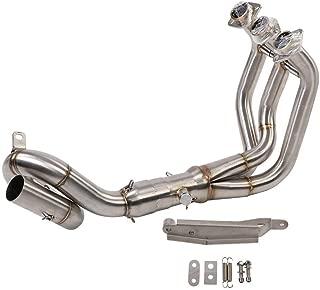 azul KIMISS Sistema de Tubo de Escape completo para motocicletas Conector del enlace del Tubo frontal para Z650 650