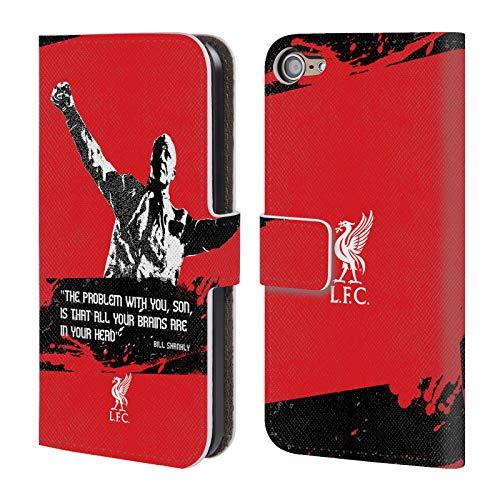 Head Case Designs Offizielle Liverpool Football Club Problem Medium Bill Shankly Zitate PU Leder Brieftaschen Huelle kompatibel mit Touch 6th Gen/Touch 7th Gen