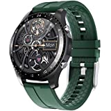 LIGE Smart Watch for Android iOS Phone Activity Tracker 1.28 Inch Touch Screen IP67 Waterproof with Heart Rate Blood Pressure Monitor Watch for Men Green
