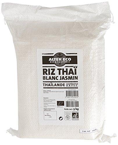 Alter Eco Riz Thaï Bio & Équitable – Prêt en 15 min – Origine Thaïlande – 5kg