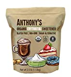 Anthony's Organic Erythritol Granules, 2.5 lb, Non GMO, Natural Sweetener, Keto & Paleo Friendly, Granulated, Zero Calorie, Zero Net Carb