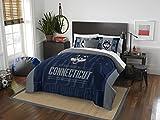 NORTHWEST NCAA Connecticut Huskies Comforter and Sham Set, Full/Queen, Modern Take