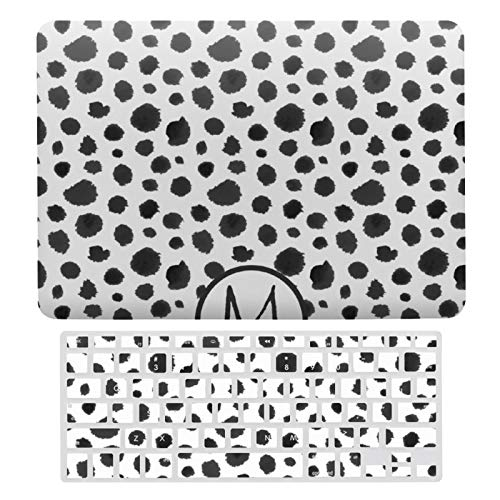 For MacBook Air 13 13 Inch Case A1466、A1369 Hard Shell Cover for MacBook Air 13 Case & Keyboard Cover, Modern Black And White Animal Fur Pattern Laptop Protective Shell Set