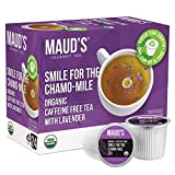 Maud's Chamomile Lavender Tea (Smile For The Chamo-mile) 24ct., Recyclable Single Serve Organic Decaf Tea Pods – 100% Organic Caffeine Free Herbal Tea California Blended, Lavender Chamomile Tea K Cups Compatible, Sleep Tea, Kids Tea, or Drink All Day or Night