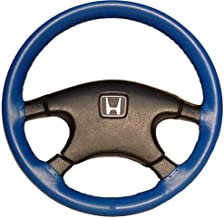 product image for Wheelskins Genuine Leather Cobalt Steering Wheel Cover Compatible with Land Rover Vehicles -Size C