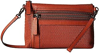 FRYE womens Lena Leather Perf Wristlet Crossbody